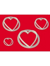 HEART SET OF 4