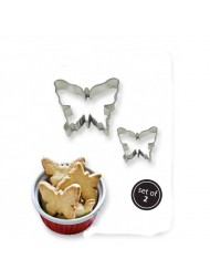 Pme Cookie & Cake Butterfly Cutter Set Of  2