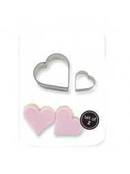 Pme Cookie & Cake Heart Cutter Set Of 2