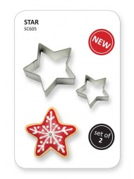 Pme Cookie & Cake Star Cutter Set Of 2