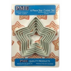 Pme Star Cutter Set Of 6