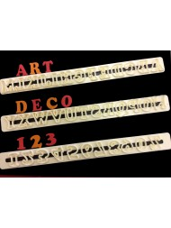 Art Deco Alphabet And Number Set 2 cm Upper Case