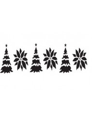 cake side stencil - christmas tree