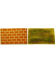 Imp Mat Set 1 (Tree Bark & Brick Wall)