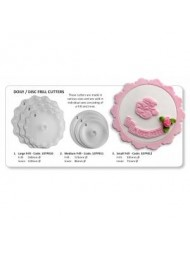 JEM Large Frill ( Doily 160 & Disc 120mm) Set Of -2
