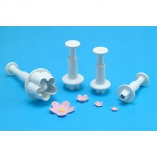 PME Flower Blossom Plunger Cutter Set Of 4